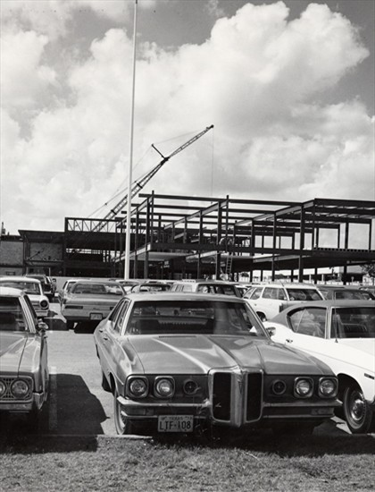 Construction of first expansion of NorthPark Center      October 1, 1973