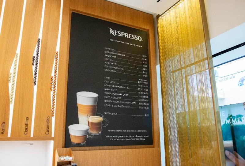 nespresso menu