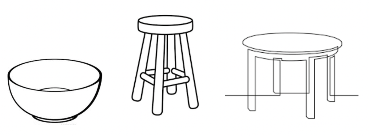 chairs stools bowl
