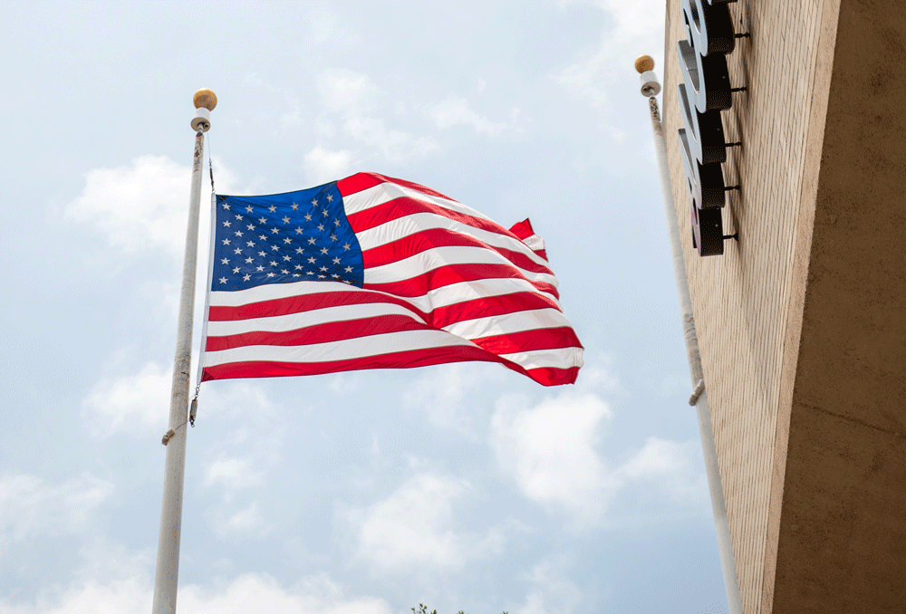 northpark american flag