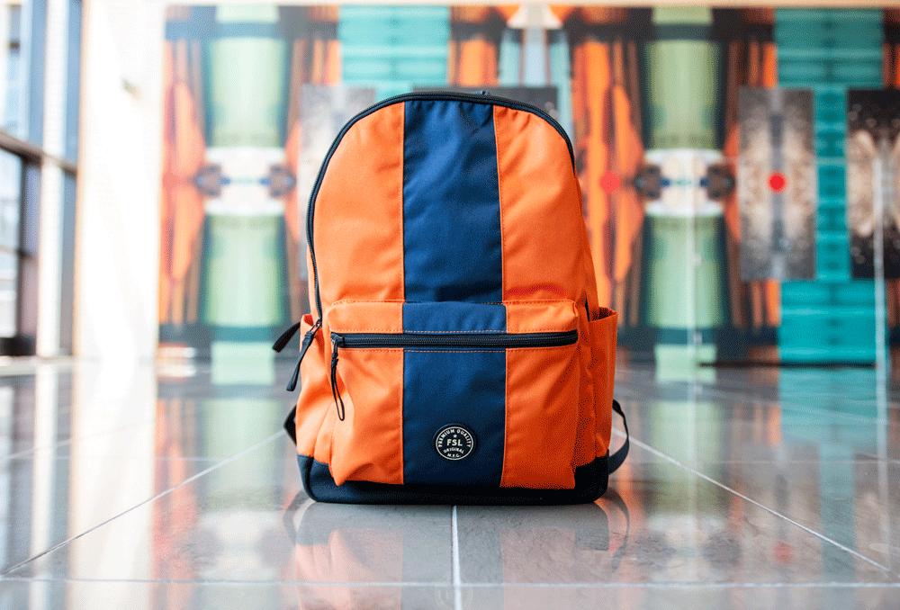 fossil backpack orange