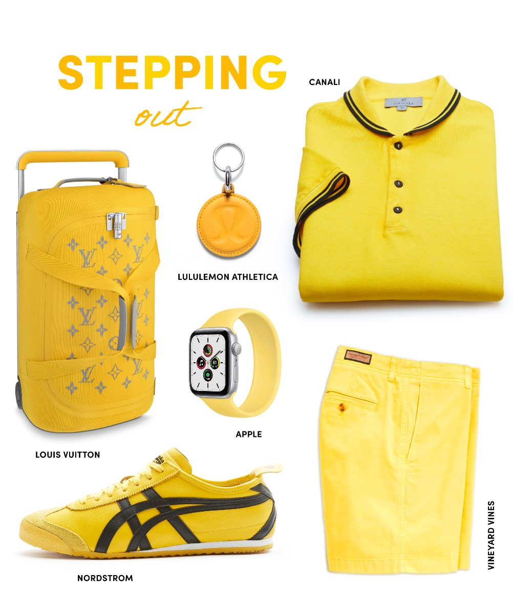 stepping out in yellow