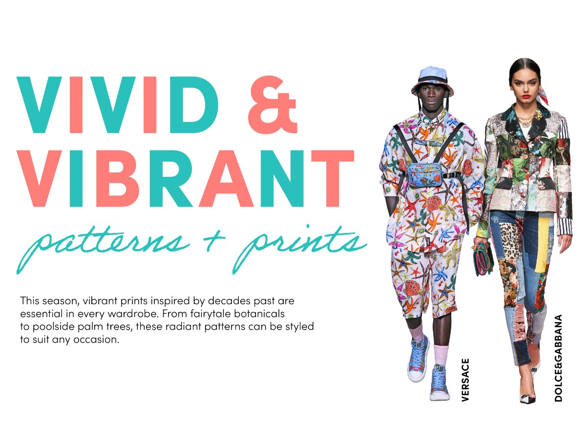 vivid and vibrant patterns and prints