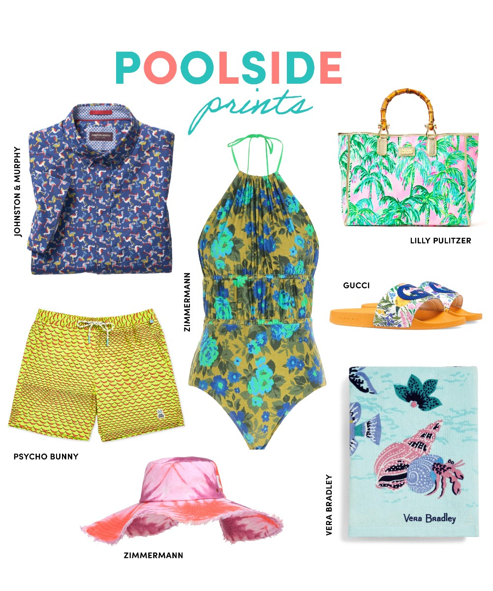 poolside prints