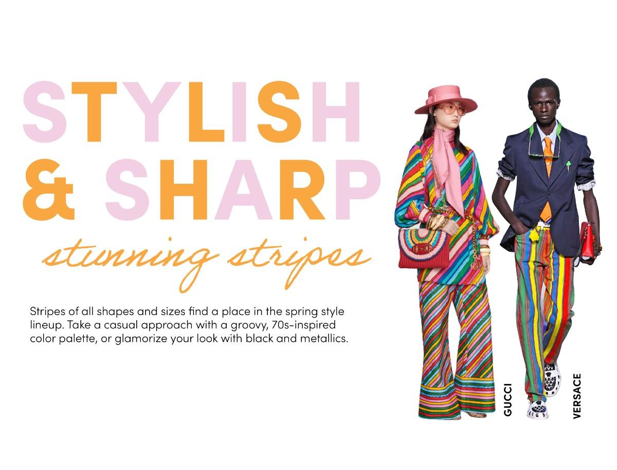 stylish and sharp stunning stripes