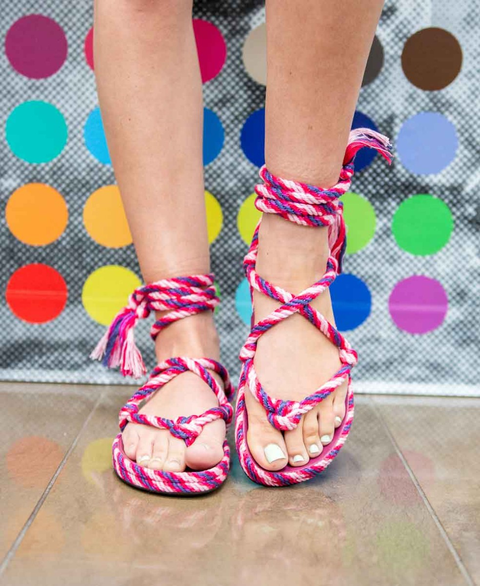 isabel marant pink sandals