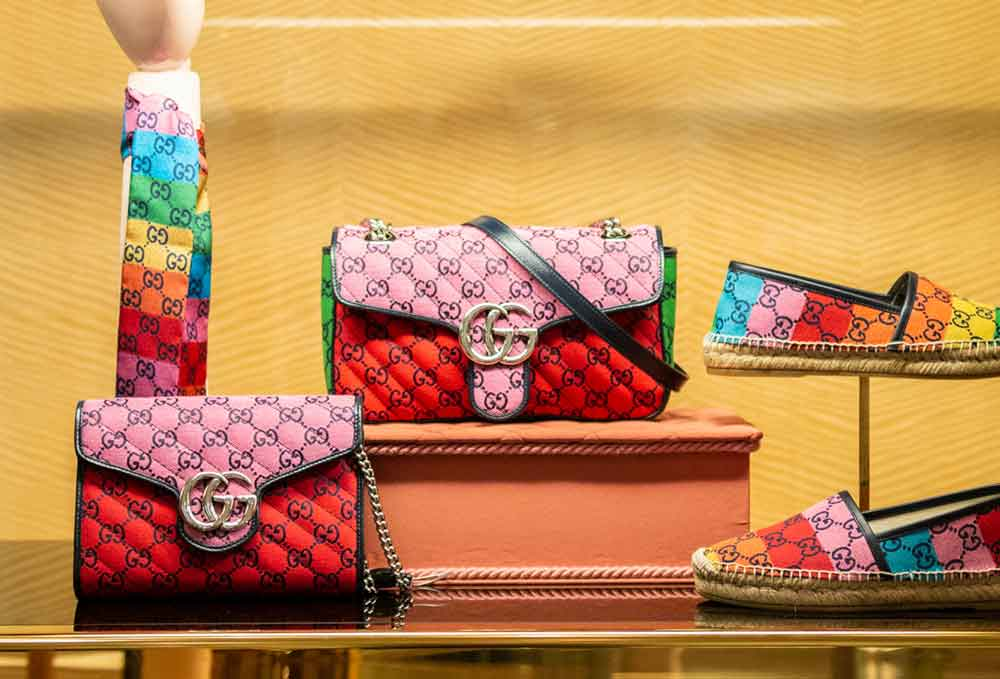gucci gg multicolor bags and ties